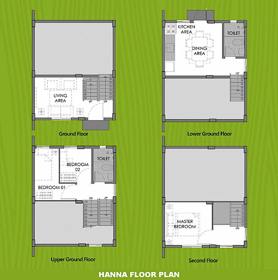 Hanna Floor Plan House and Lot in Santo Tomas
