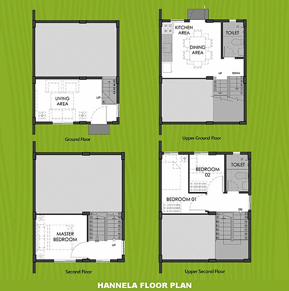Hannela Floor Plan House and Lot in Santo Tomas
