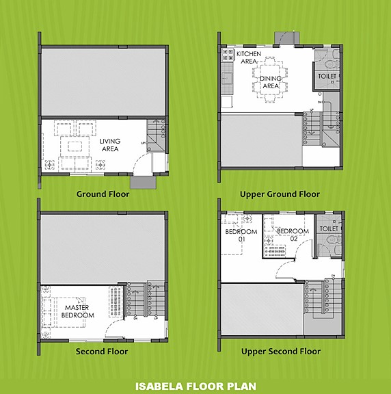 Isabela Floor Plan House and Lot in Santo Tomas