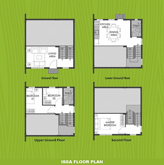 Issa Floor Plan House and Lot in Santo Tomas