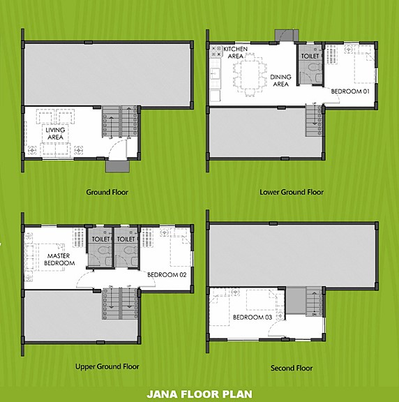 Janna Floor Plan House and Lot in Santo Tomas