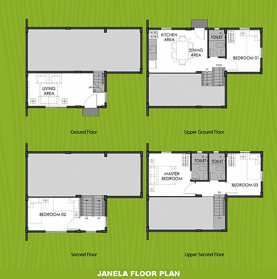 Janela Floor Plan House and Lot in Santo Tomas