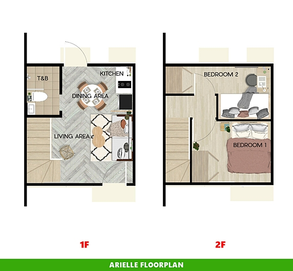 Arielle Floor Plan House and Lot in Santo Tomas