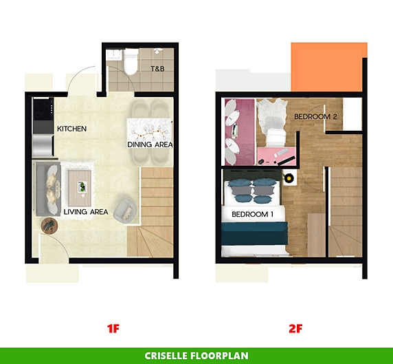 Criselle Floor Plan House and Lot in Santo Tomas