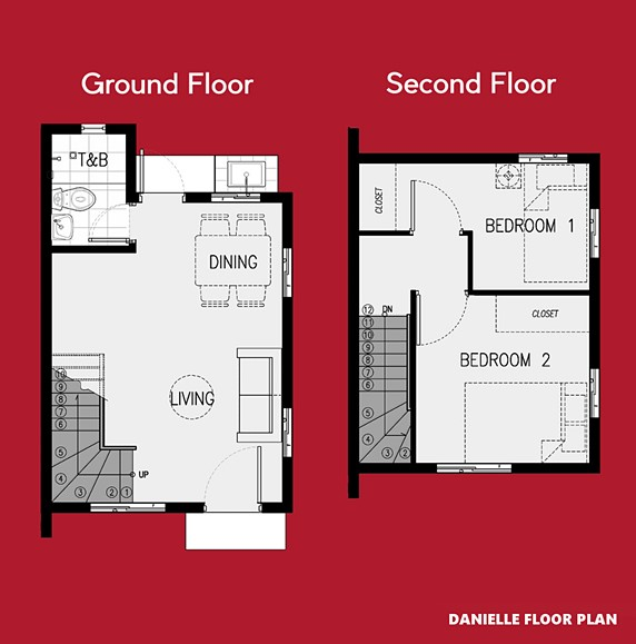 Danielle Floor Plan House and Lot in Santo Tomas
