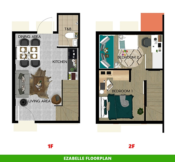 Ezabelle Floor Plan House and Lot in Santo Tomas