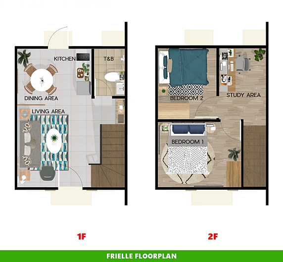 Frielle Floor Plan House and Lot in Santo Tomas